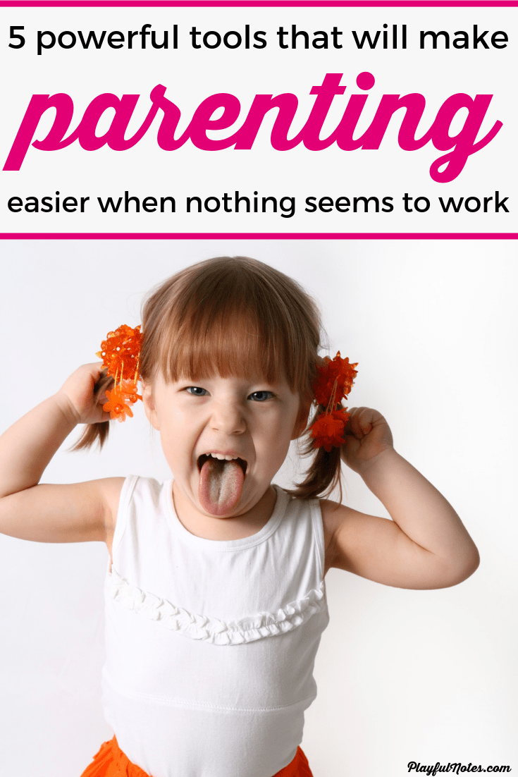 When your child is constantly acting out and nothing seems to works, try these 5 powerful positive parenting tools! They will make parenting easier and help you restore the peace in your home! --- Positive discipline | Positive parenting toddlers | Positive parenting tips and solutions | Gentle parenting | Peaceful parenting #ParentingTips