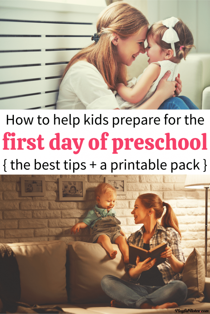 Discover helpful ways to prepare your child for preschool and make the start of preschool easier and more enjoyable for both you and your child! You can also download a printable file with great resources for the first day of preschool! - How to prepare for preschool | Free printable for the first day of preschool