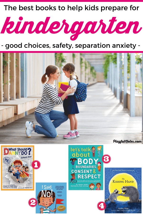 These four books are perfect to help you prepare your child for kindergarten! By approaching topics as safety, good choices, and separation anxiety, these children books are great for teaching kids important things they need to know before they start school! -- How to emotionally prepare kids for kindergarten | Children books | Advice for moms
