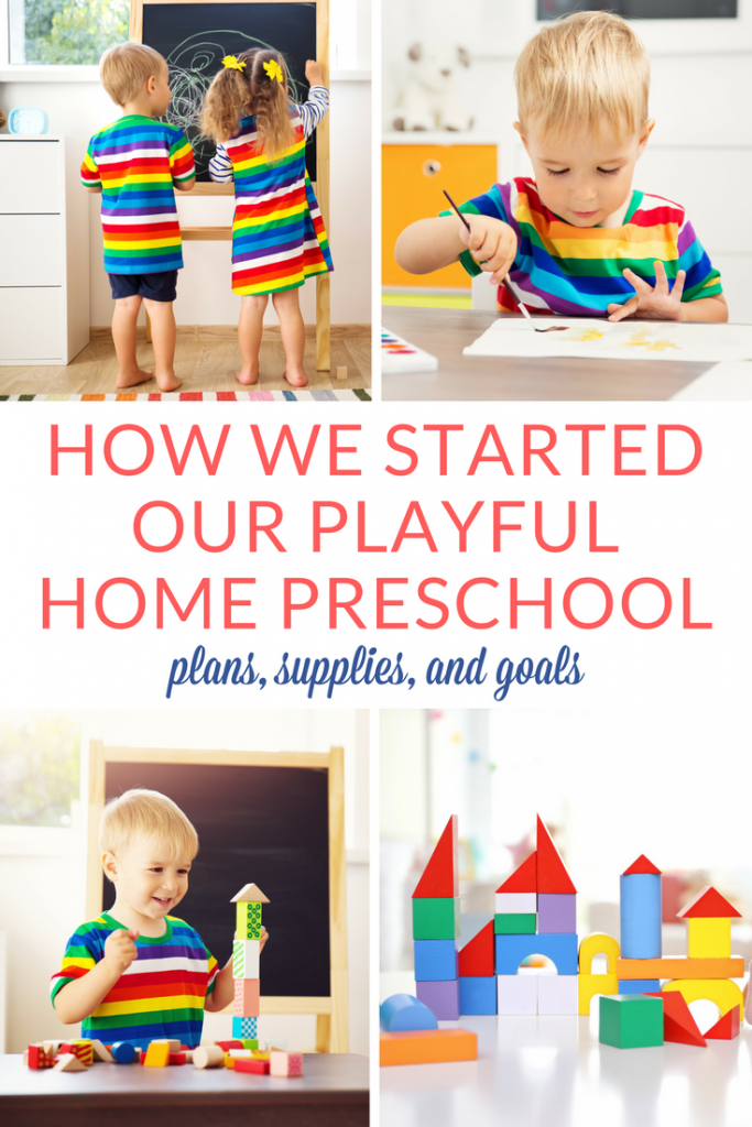 Starting preschool at home is the beginning of a new journey for me and my son. I've gathered here our list of plans, supplies, and goals for the first months of home preschool. I hope that you'll find some good inspiration on our list! | Preschool at home setup | Home preschool ideas and supplies #PreschoolAtHome #HomePreschool