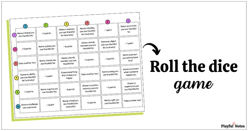 printable gratitude game