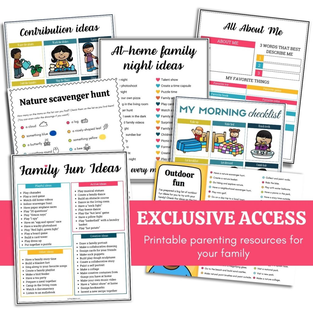 printable parenting resources