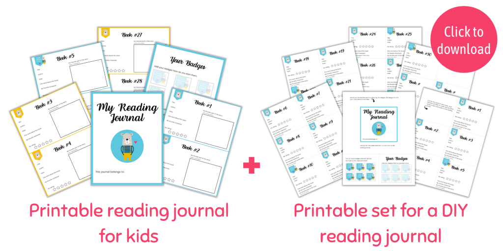 printable reading journal for kids