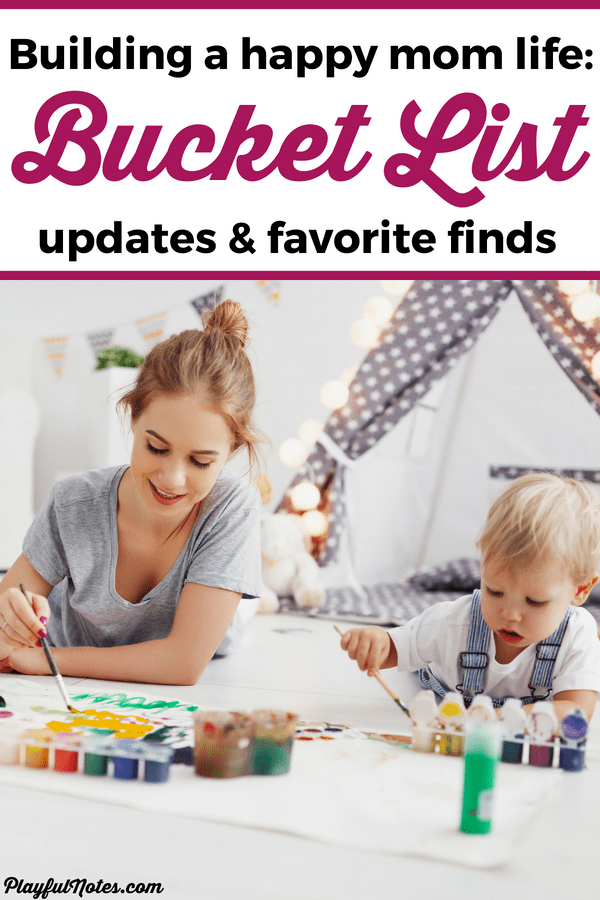 To be more intentional in my journey to a happier and more meaningful life, I've decided to post a monthly update on my bucket list. Here is my update for May and our favorite finds for this month. | Bucket list ideas | Bucket list for moms #BucketLIst #MomLife