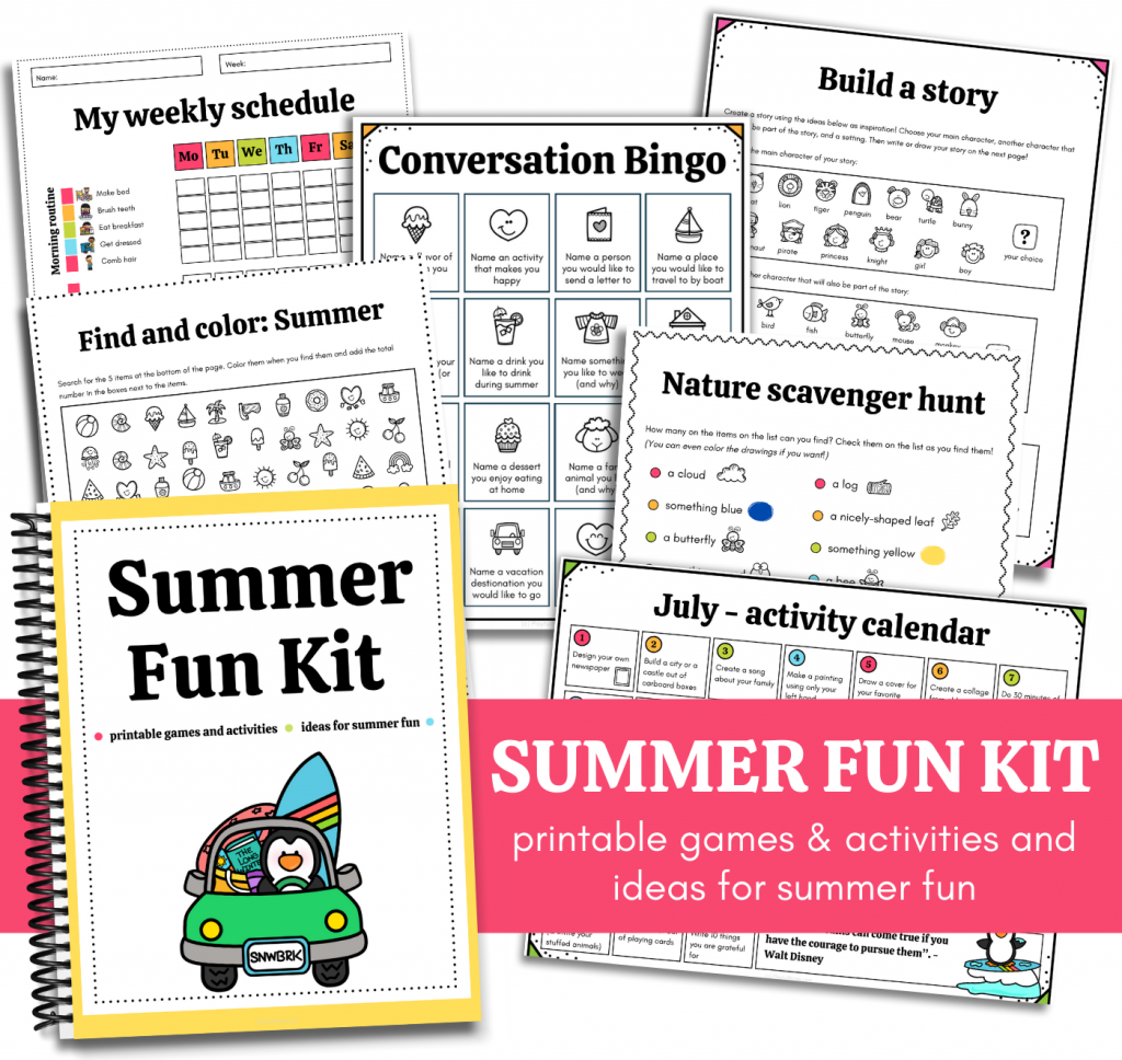 printable summer activities for kids