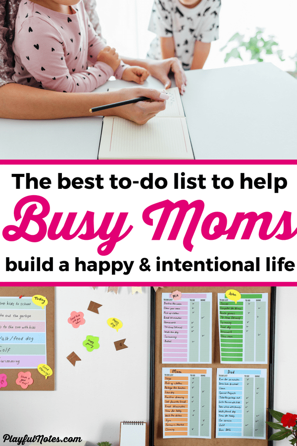 If you struggle with getting more things done and building a happy and intentional mom life, check out this great tip that will help you be more productive and enjoy motherhood more! Download the printable to-do list and start creating the life you want! --- Time management for moms | Printable to do list for busy moms | Daily checklist for moms | Advice for moms #Motherhood #MomLife #AdviceForMoms #TimeManagement