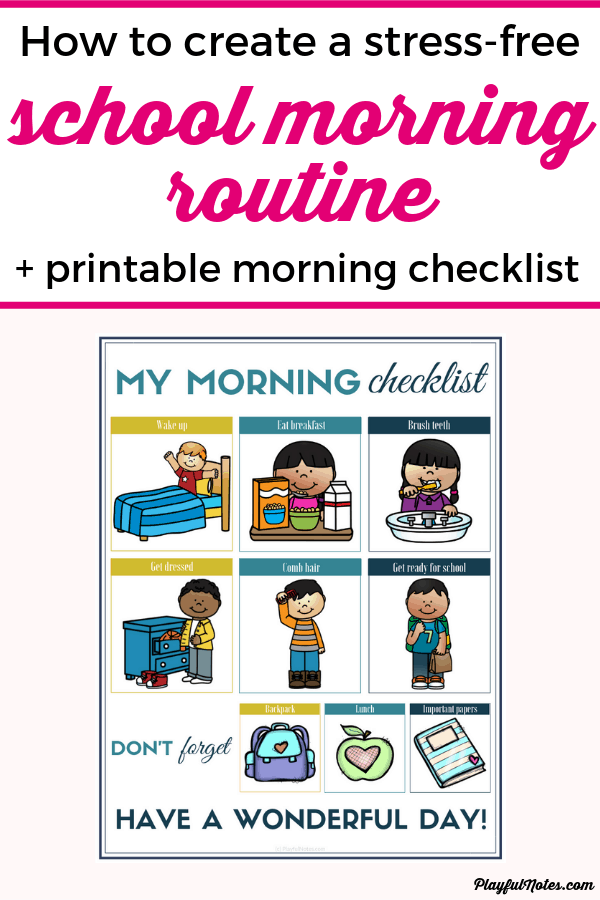 Are you looking for the best school morning routine for kids? Check out these 5 easy tips that will help you enjoy stress-free mornings and download a printable school morning routine checklist to use with your kids! --- Back to school tips | Parenting tips #Parenting