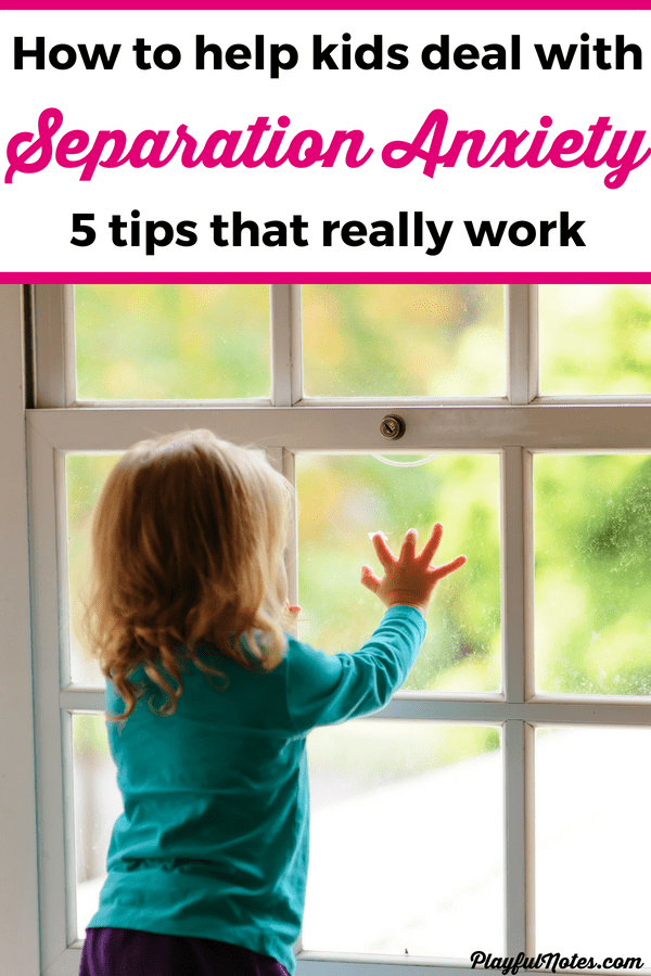 Separation anxiety in children can easily become overwhelming but these easy tips will make things a lot easier! These ideas are perfect for dealing with the separation anxiety that comes up when kids are starting preschool or are going through other similar changes. --- Separation anxiety in toddlers and preschoolers | How to overcome separation anxiety | Parenting tips for overcoming separation anxiety #RaisingKids #PositiveParenting #ParentingTips #AnxietyInChildren