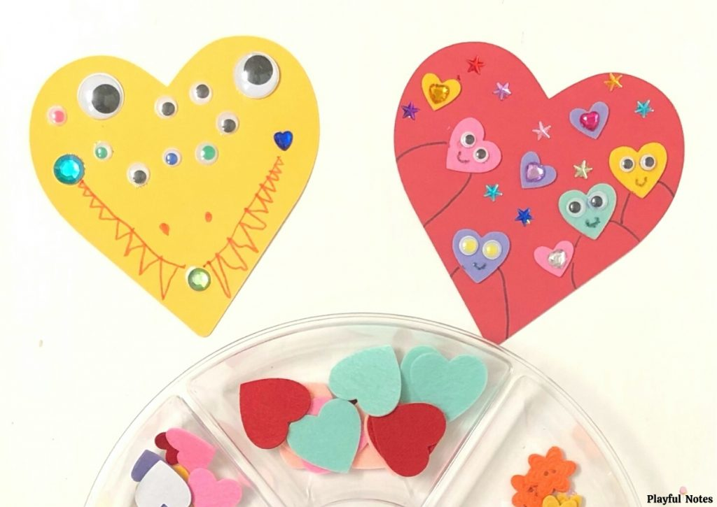 silly hearts heart art activity for kids