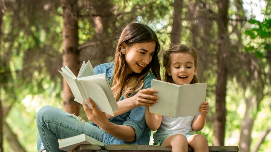 spring activities for kids story time outdoors