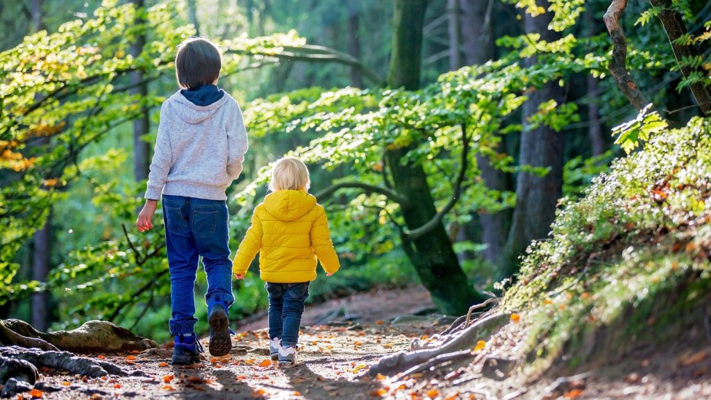 spring activities for kids go on a hike