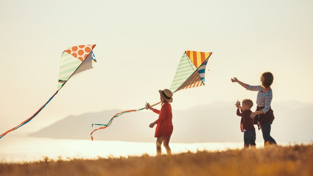 spring activities for kids fly a kite