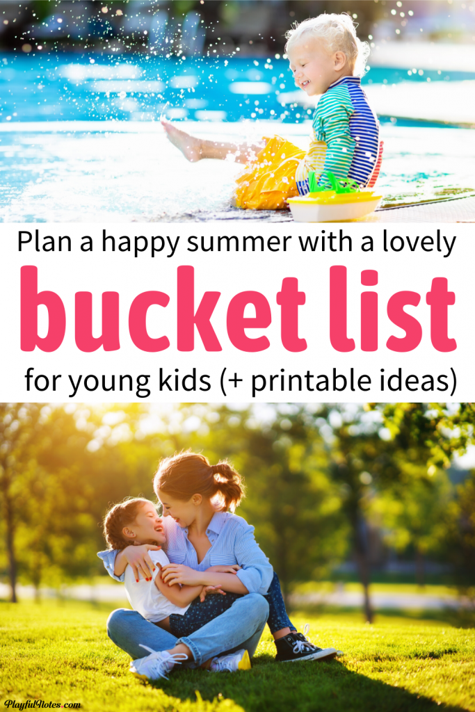 Download a printable summer bucket list for kids and plan a happy summer with your little ones! -- Children activities | Family fun
