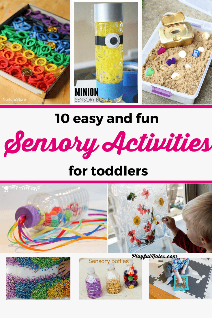I love these easy and fun sensory activities for young children! They are great for both 1 year olds, toddlers, and preschoolers. | Sensory activities for toddlers | Sensory activities for preschoolers | Toddler Activities #ChildrenActivities