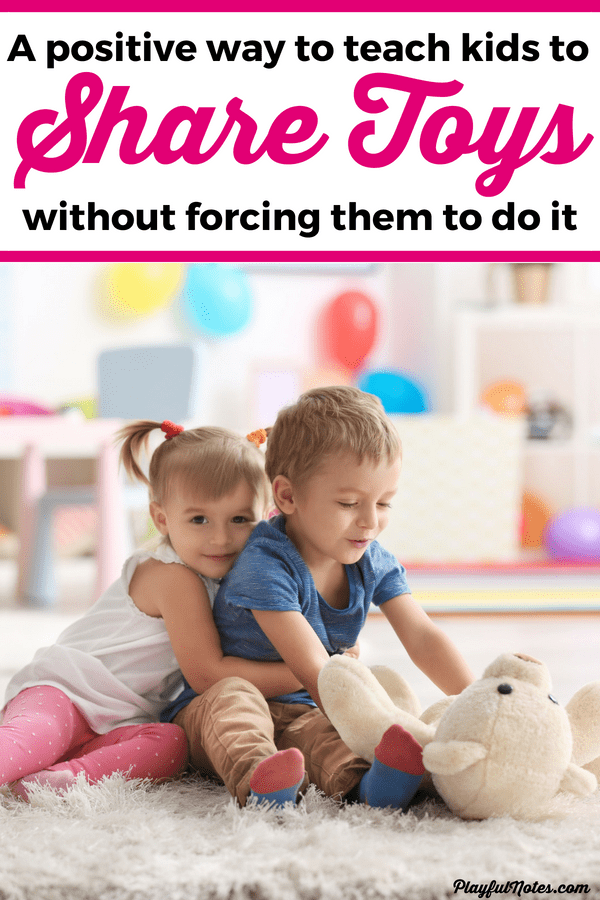 Teaching toddlers and preschoolers to share their toys can be challenging but this positive approach will help you teach children how to share without forcing them to do it. We tried this method with our son and it worked great! --- How to teach kids to share | Positive parenting tips #PositiveParenting #ParentingTips #RaisingTips #ToddlerLife #ParentingToddlers