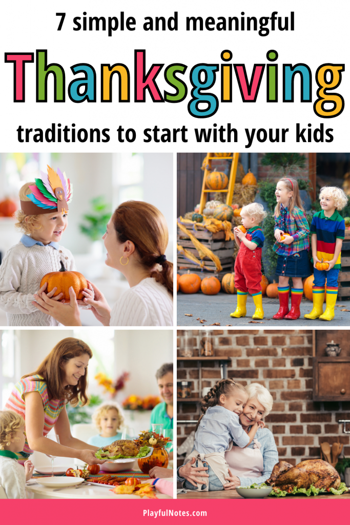 Check out these wonderful Thanksgiving traditions to start with your family this year! They are special and uniques and will help you build many happy family memories. - Family traditions | Thanksgiving traditions for kids | Thanksgiving traditions to start | Family fun | Family life