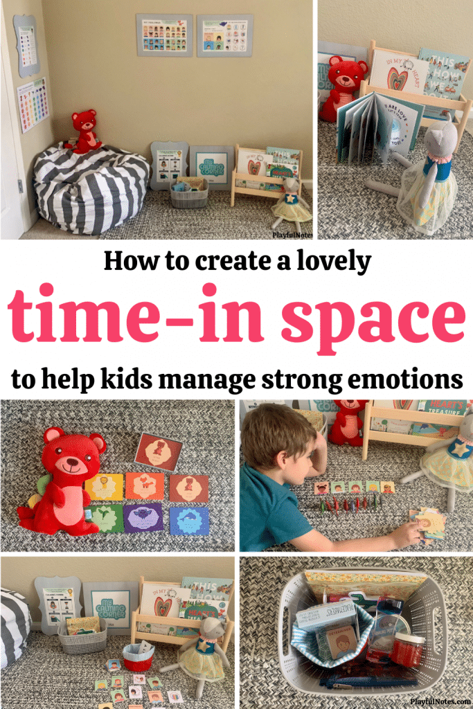 If your kids need more support in managing their feelings and improving their behavior when they feel overwhelmed by emotions, creating a time-in space for them can make a big difference!