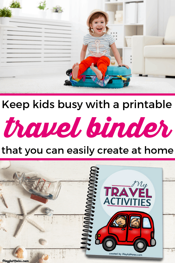 Check out this awesome printable travel binder that is perfect for toddlers and preschoolers! These easy and fun travel activities will keep young kids busy for hours and you'll be able to enjoy long road trips or airplane trips a lot more! --- Family travel tips | Family vacation | Road trip printables #FamilyTravel