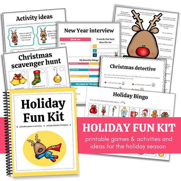 printable Holiday Fun Kit for kids