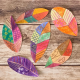 watercolor resist leaves fall activity for kids